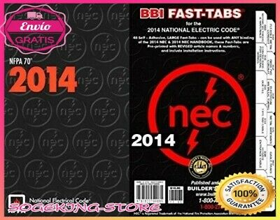 NFPA 70 National Electrical Code NEC Paperback 2014 Fast Tabs-Set Self Adhesive