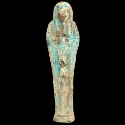 EGYPTIAN HIEROGLYPHIC SHABTI, LATE PERIOD 664 - 332 BC (5) LARGE OVER 16 cm TALL