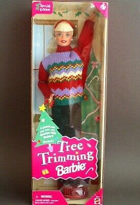 BARBIE 1998 TREE TRIMMING Doll Special Edition #23592 NRFB