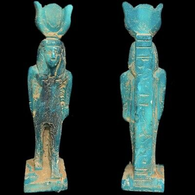 EGYPTIAN HIEROGLYPHIC SHABTI, LATE PERIOD 664 - 332 BC (7) LARGE OVER 11 cm TALL