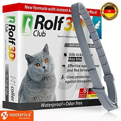 Rolf Club 3D FLEA Collar for Cats - Flea and Tick Prevention for (For cats)