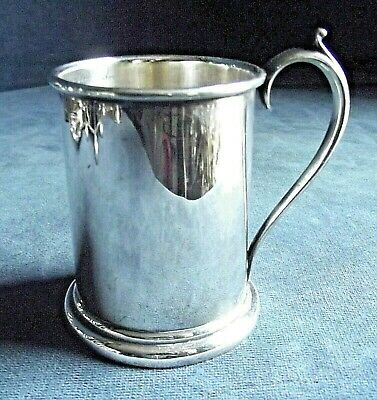 SUPERB Small ~ SILVER Plated ~ TANKARD ~ c1900