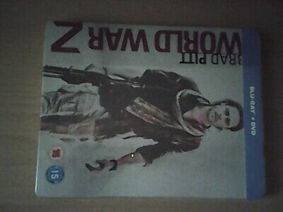 World War Z Steelbook (Blu-ray and DVD) UK Release. NEW SEALED DUAL FORMAT