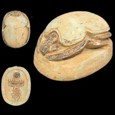 Beautiful Ancient Egyptian Scarab 300 Bc (4)