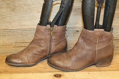 b9dfa8374 Sam Edelman James Womens Brown Stacked Heel Leather Ankle Booties Boot Sz 6  M