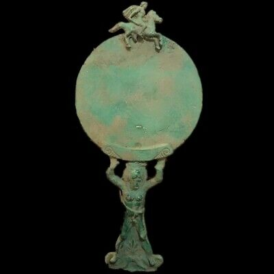 ROMAN ANCIENT BRONZE MIRROR 200-400 AD (1) LARGE OVER 33 Cm Tall !!!!