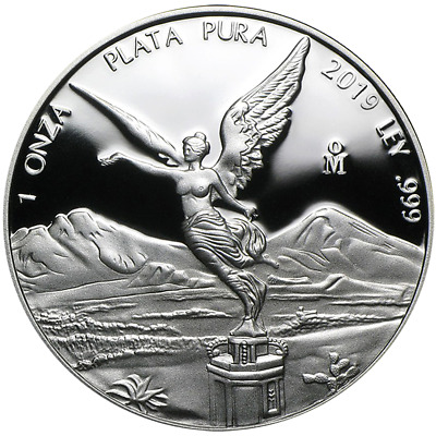 2019 Proof Silver Mexican Libertad Onza 1 oz in Cap