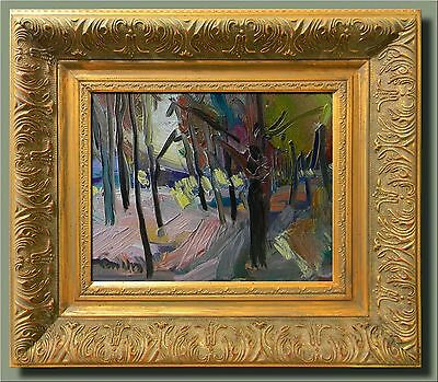 JOSE TRUJILLO - MODERN Art IMPRESSIONISM FRAMED Oil Painting WOODLAND WOODS TREE