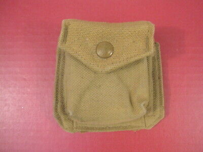 WWII Canadian Army Pattern 37 Padded Lensactic Compass Carry Case - Dtd 1942