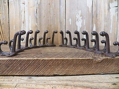 Lot 12 Antique-Style ACORN Rustic School COAT HOOK Cast Iron Wall Hardware
