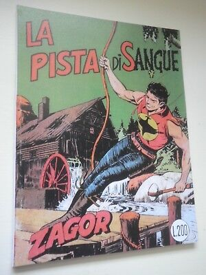 "Zagor N 98 Albo Variant Cover Ricopertinato Zenith La Track of Sangue "" mm """