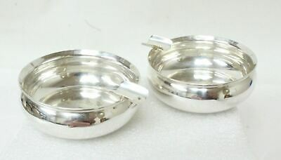 2 Rogers,Lunt&Bowlen #1169 Sterling Silver Mini Individual Ashtrays