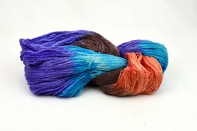 bulky wool multiple color 200 gram 240 yards knitting crochet purple orange