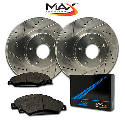 2012 2013 Ford Flex Non HD Slotted Drilled Rotor w/Metallic Pads F