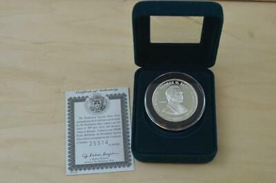 2001 Presidential Election 1 OZ .999 Fine Silver Proof Coin COA Bush Gore {B68}