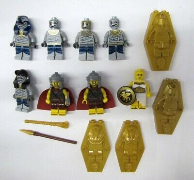 #8 Lego Minifigures Lot Ancient Egyptian Pharoah's Quest Mummies Mummy Minifigs