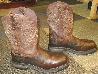 7a9284ac9e4 MENS ARIAT COMPOSITE Toe Leather Performance Work Boots sz 11 EE ...