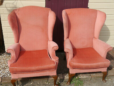 Parker Knoll wingback chairs x2 - used