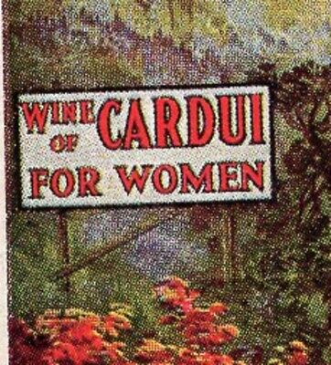 QUACK Medicine Wine of Cardui For Women Ad PostCard Cerulean KY 1912 7i