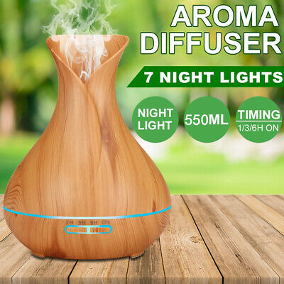 LED Air Humidifier Purifier Aroma Aromatherapy Diffuser Essential Oil Ultrasonic
