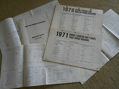 1971 lincoln continental original factory foldout wiring diagrams / 71  manual
