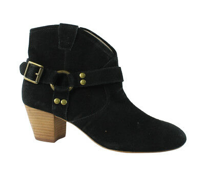 c8ffb50f8a Hinge Womens Billy Black Leather Ankle Boots Size 6 (187804)