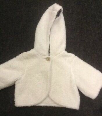CREAM JACKET 4-5 Yrs NEXT Soft Fluffy Fleece Faux Sheep Fur