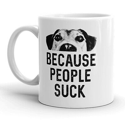 Hate People DOGS Because People Suck Decal//Sticker Love your Dog Pit Bull p19