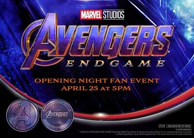 2 Avengers Endgame Opening Night Fan Event Tickets