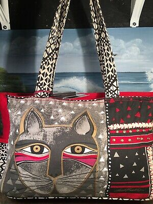 laurel burch cat shoulder Tote Travel Canvas Womens Purse NEW Large Tote