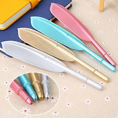 Cute Feather Gel Pens Office School Students Writing Stationery Tools Gift New
