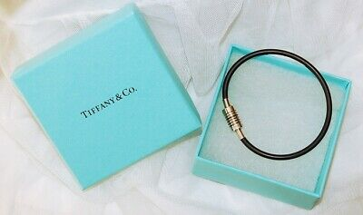 a182c3341 FAB TIFFANY PICASSO BLACK RUBBER GROOVE SURFER BRACELET Great estate piece