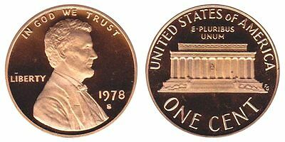 1978 S GEM BU PROOF Lincoln MemoriaL BRILLIANT UNCIRCULATED PENNY US COIN  PF