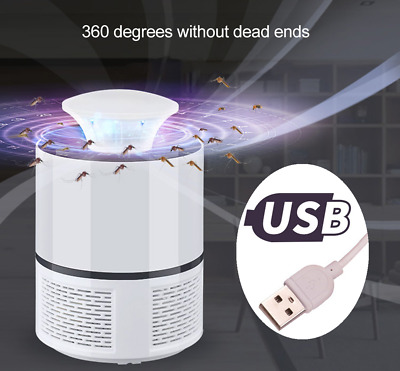 Electric Fly Bug Zapper Mosquito Insect Killer LED USB Trap Lamp Pest Control A+