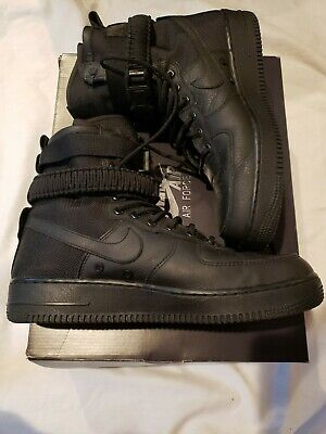 separation shoes 79d08 5cf44 Nike SF AF1 Special Forces Field Air Force One Black Worn Once VNDS SZ10.5