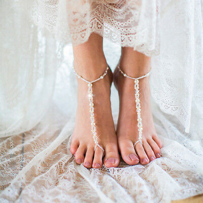 87809e2d12d6 Starfish Barefoot Sandals Bridal Foot Jewelry Beaded Beach Wedding Jewelry