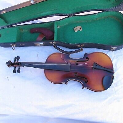 Vtg / Antique 3/4 Germany made Violin Stradivarius Copy W/ Case Nice