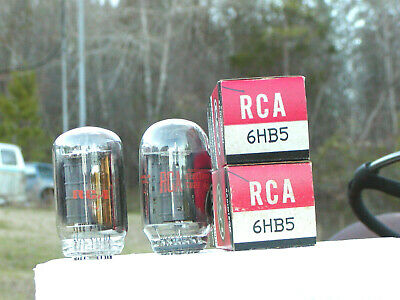 A Matched Pair Of Vintage Rca 6Hb5  Nos/Nib Vacuum Tubes