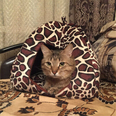 Puppy Pet Cat Dog Soft Warm Nest Kennel Bed Cave House Sleeping Bag Mat Pad Tent