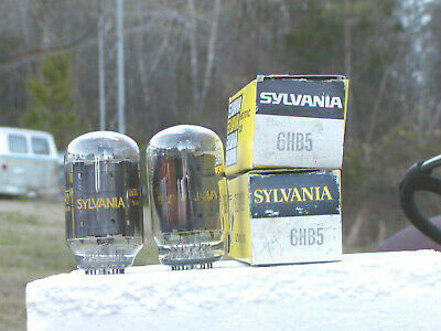 A Matched Pair Of Vintage Sylvania 6Hb5  Nos/Nib Vacuum Tubes