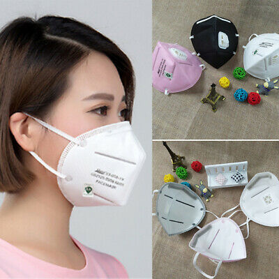 US 2Pcs Black Health Cycling Anti-Dust Cotton Mouth Face Respirator Unisex Mask