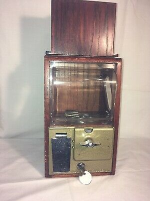 Victor Baby Grand Vending Machine .5 Extra Capacity Solid Oak Topper 1950's