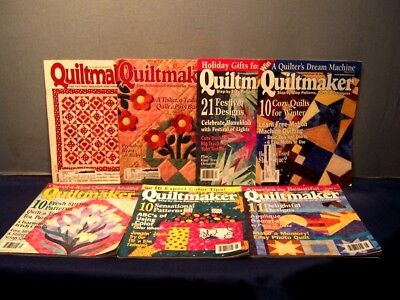 LOT of 7 QUILTMAKER QUILT MAGAZINES '95 '96 '01 '02 INSTRUCTIONS PATTERNS PHOTOS