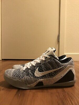 detailed look 9a819 0c184 Nike Kobe 9 Elite Low  Beethoven  white, black-wolf grey size 13