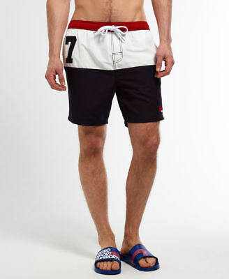 """Superdry Premium Water Polo Tricolor Shorts Size LR35 """"X-Large"""""""