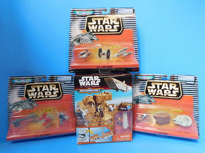 Star Wars Micro Machines Lot Vehicles and Storm Trooper Playset Milinnium Falcon
