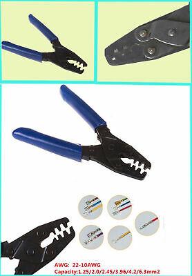 Molex Style CRIMP TOOL DELPHI AMP TYCO Terminals Crimper Open Barrel 22-10 AWG