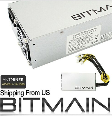 NEW! Bitmain APW3++ Power Supply PSU for Antminer ASIC Miner S9 L3+ D3 A3 1600W