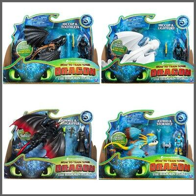 DREAMWORKS How To Train Your Dragon 3 Night Fury Light fury Toothless Figure Toy