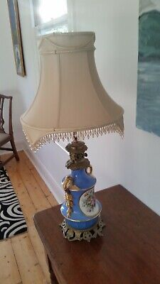 Beautiful 19th century Sevres antique French lamp